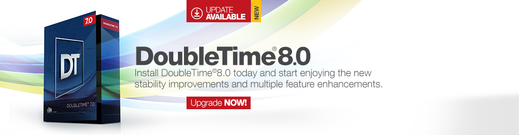 DoubleTime 8.0 is Now Available!