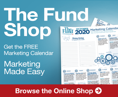 Get October's FREE Marketing Calendar in the Fund Shop
