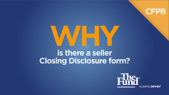 Why is there a seller Closing Disclosure form?