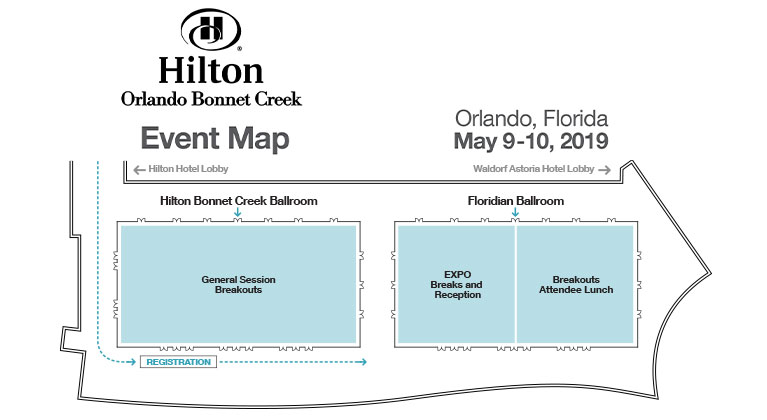 Hilton Orlando Bonnet Creek Exhibitor Map