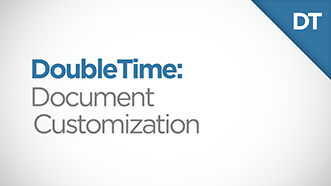 DoubleTime Document Customizations