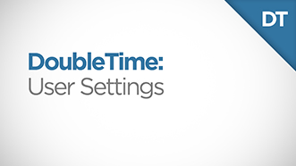DoubleTime User Settings