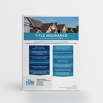 Title Insurance vs. Homeowner's Insurance (Download)