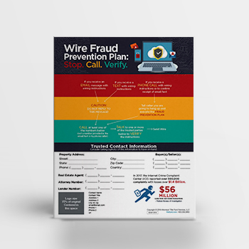 Wire Fraud Prevention Plan – Flyer
