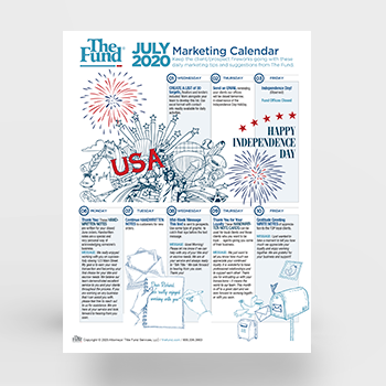 Marketing Calendar - July 2020 (Download)