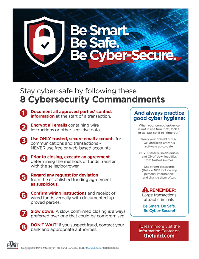 8 Cybersecurity Commandments (Download)