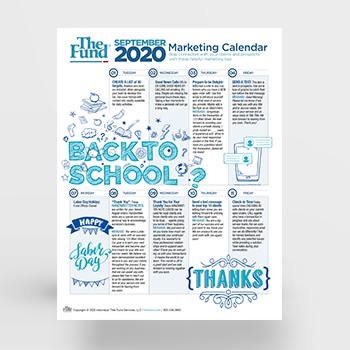 Marketing Calendar - September 2020 (Download)