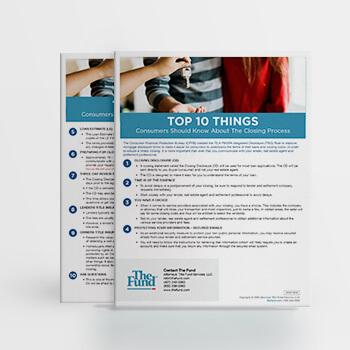 Closing Process Top 10 for Consumers (Download)