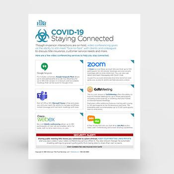 COVID-19 Staying Connected Flyer (Download)